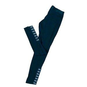 Leggings silver accent & big elastic waist M